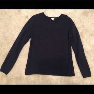 Navy blue J Crew sweater size XL